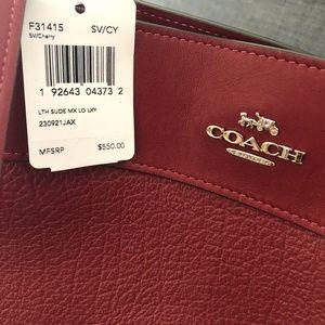 * BRAND NEW - Coach Edie Shoulder Bag 42 Cherry